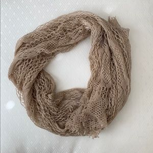 ANTHROPOLOGIE nude tan scarf